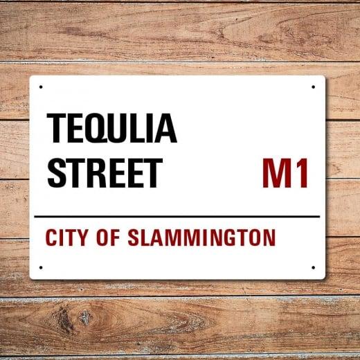 Wall Chimp London Metal Street Sign - Tequila Street