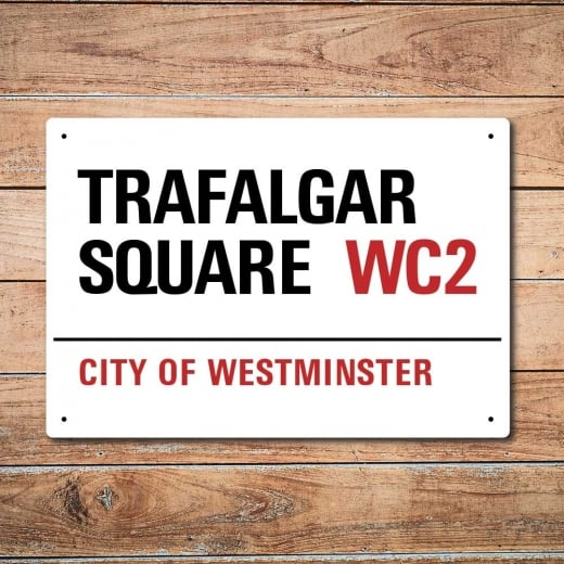 Wall Chimp London Metal Street Sign - Trafalgar Square