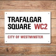 London Metal Street Sign - Trafalgar Square