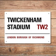 London Metal Street Sign - Twickenham Stadium