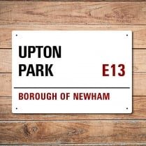 London Metal Street Sign - Upton Park