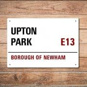 London Metal Street Sign - Upton Park