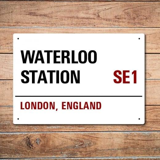 Wall Chimp London Metal Street Sign - Waterloo Station