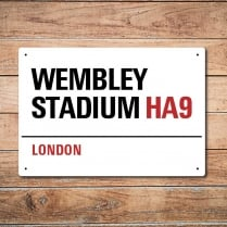 London Metal Street Sign - Wembley Stadium