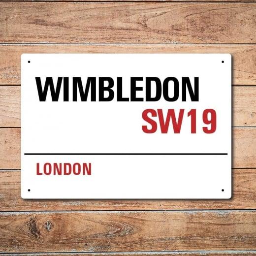 Wall Chimp London Metal Street Sign - Wimbledon