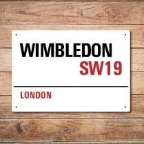 London Metal Street Sign - Wimbledon