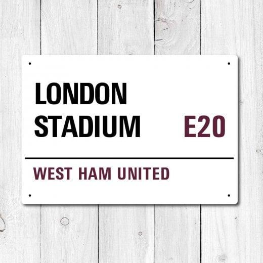 Wall Chimp London Stadium, West Ham United Metal Sign