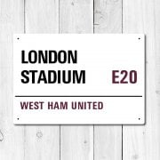 London Stadium, West Ham United Metal Sign