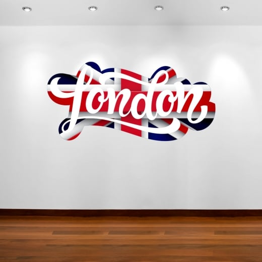 Wall Chimp London Union Jack Wall Sticker