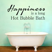 Long Hot Bubble Bath Wall Sticker Quote