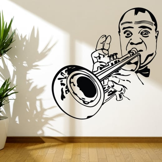 Wall Chimp Louis Armstrong Wall Sticker