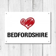 Love Bedfordshire Metal Sign