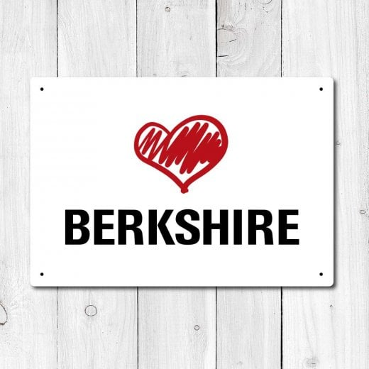 Wall Chimp Love Berkshire Metal Sign