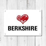 Love Berkshire Metal Sign