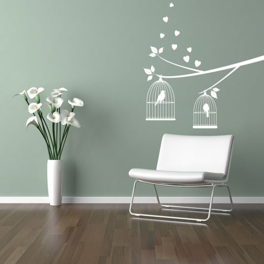 Wall Chimp Love Birds Tree Branch Wall Sticker