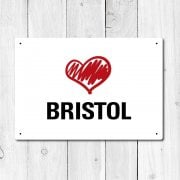 Love Bristol Metal Sign