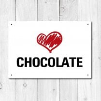 Love Chocolate Metal Sign