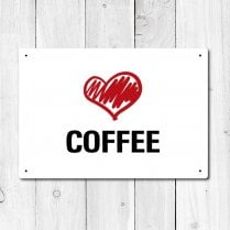 Love Coffee Metal Sign