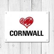 Love Cornwall Metal Sign