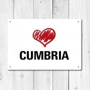 Love Cumbria Metal Sign