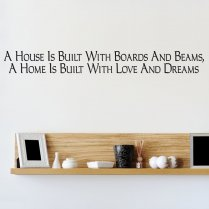 Love & Dreams Wall Sticker Quote
