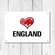 Love England Metal Sign