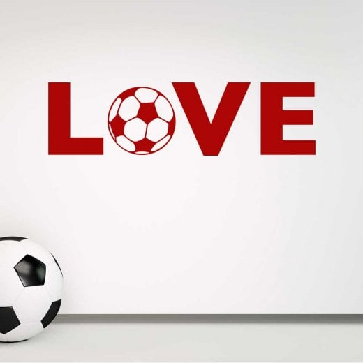 Wall Chimp LOVE Football Wall Sticker