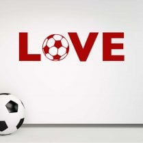 LOVE Football Wall Sticker