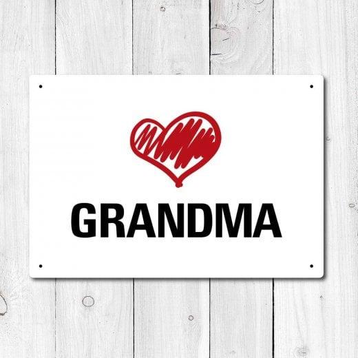 Wall Chimp Love Grandma Metal Sign