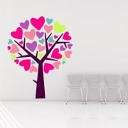 Love Heart Tree Printed Wall Sticker