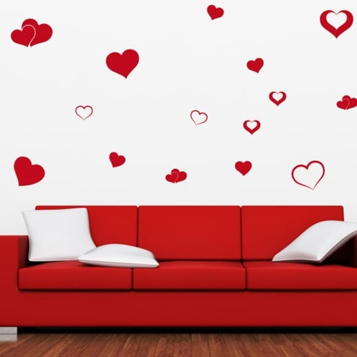 Wall Chimp Love Heart Wall Sticker Pack