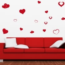 Love Heart Wall Sticker Pack