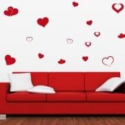 Love Heart Wall Sticker Pack