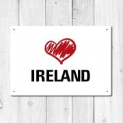 Love Ireland Metal Sign