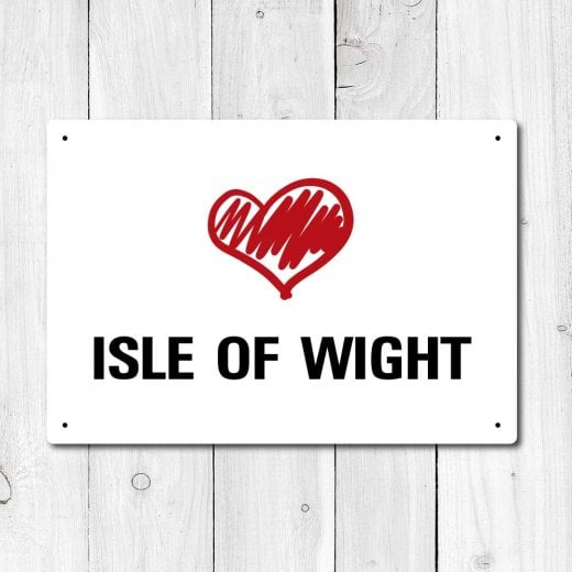 Wall Chimp Love Isle Of Wight Metal Sign