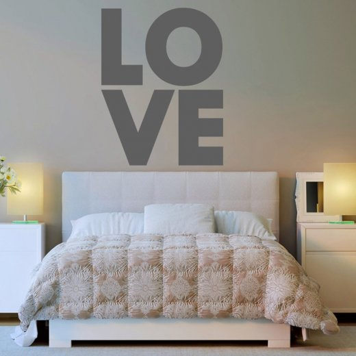 love letters wall sticker quote - wall chimp uk.