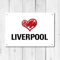 Love Liverpool Metal Sign
