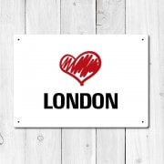 Love London Metal Sign