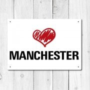 Love Manchester Metal Sign