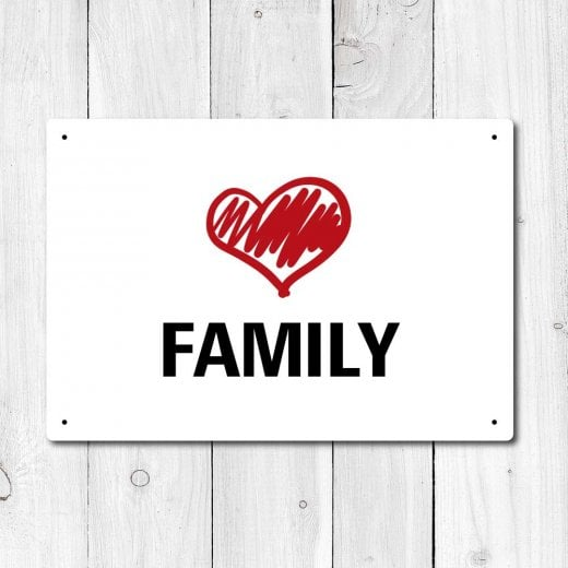 Wall Chimp Love My Family Metal Sign