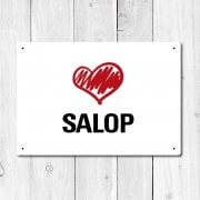 Love Salop Metal Sign