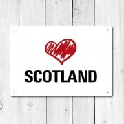 Love Scotland Metal Sign