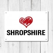 Love Shropshire Metal Sign