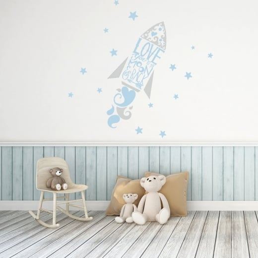 Wall Chimp Love You To The Moon And Back Printed Wall Sticker