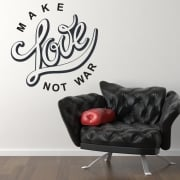 Make Love Not War Wall Sticker Quote