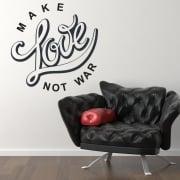 Make Love Not War Wall Sticker Quote
