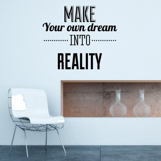 Wall Chimp Make Your Own Dream Reality Wall Sticker