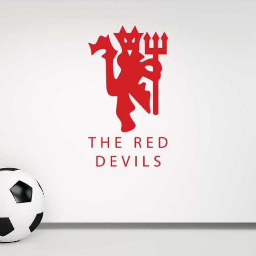 wall chimp manchester united the red devils wall sticker - wall