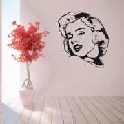 Marilyn Monroe Shoulder Pose Wall Sticker