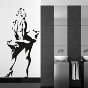Marilyn Monroe Standing Wall Sticker